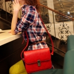 """""""พร้อมส่ง""""กระเป๋าแฟชั่น Maomao กระเป๋าสะพาย เรียบๆ สวย -สีแดง"""