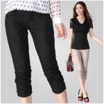 กางเกงผ้ายืด สีดำ/สีกากี XL 2XL 3XL