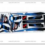 สติ๊กเกอร์ KSR-KITACO ติดรถสีน้ำเงิน
