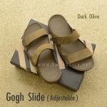 **พร้อมส่ง** FitFlop Gogh Slide ( Adjustable ) : Dark Olive : Size US 10 / EU 43