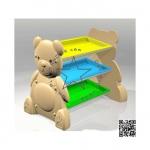 PPRAK-006 ชั้นวางของหมีน้อย-ถาดยาว