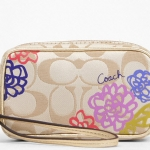 Coach DAISY APPLIQUE E/W MULTI POUCH # 62313