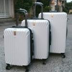 (สีขาว) กระเป๋าเดินทางล้อลาก Swiss gear (ส่งฟรีธรรมดา) / ems. คิดเพิ่มตามขนาด
