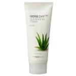Pre-Order The Face Shop Herb Day 365 Cleansing Foam Aloe โฟมล้างหน้าว่านหางจระเข้ ใช้ได้ทุกสภาพผิว ชะล้างสิ่งสกปรกได้หมดจด