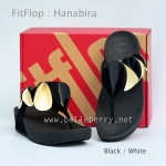 **พร้อมส่ง** FitFlop Hanabira : Black / White : Size US 9 / EU 41