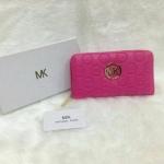กระเป๋าสตางค์ MK มาใหม่ ซิปเดียว งานสวย ขนาด 4.5x7 นิ้ว ราคา 400 บาท สีชมพูบานเย็น
