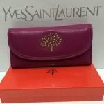 กระเป๋าสตางค์  Mulberry  มาใหม่ งานสวยมาก  ขนาด 4x7.5  นิ้ว   สีม่วง