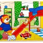 2SW-F323 ภาพจิ๊กซอว์ ห้องนอนน้องหมี (12 ชิ้น)