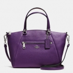 COACH PRAIRIE SATCHEL IN PEBBLE LEATHER # 34340
