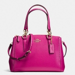 COACH MINI CHRISTIE CARRYALL IN CROSSGRAIN LEATHER # 36704