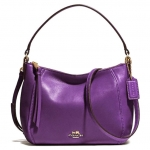 COACH MADISON TOP HANDLE IN LEATHER # 51900 สี LIGHT GOLD/VIOLET