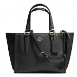 Coach Crosby Mini Carryall in Smooth Leather # 33537 สี Black