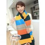 ผ้าพันคอไหมพรมแฟชั่นสไตล์เกาหลี : สีเหลือง GH0009