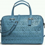 Coach TAYLOR EYELET LEATHER SATCHEL # 27392