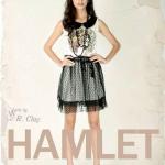 """""""พร้อมส่ง""""เสื้อผ้าแฟชั่นสไตล์วินเทจราคาถูก Hamlet แซกกระโปรงตาข่ายลายผู้หญิง"""