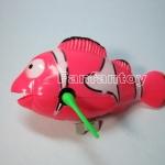 ปลาการ์ตูนว่ายน้ำ ไขลาน สีชมพู