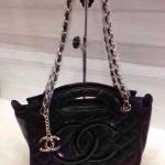 กระเป๋า Chanel มาใหม่ ทรงสวยเก๋น่ารัก สายโซ่ยาว ขนาด 11 นิ้ว สีดำ