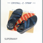 * NEW * FitFlop CRYSTALL Z-STRAP Sandal : Supernavy : Size US 8 / EU 39