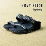 **พร้อมส่ง** FitFlop : NOVY Slide : SuperNavy : Size US 8 / EU 39