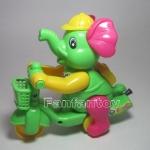 ช้างน้อยปั่นจักรยาน เชือกดึง วิ่งได้ สีเขียว