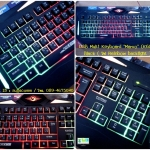 "USB Multi Keyboard ""Marvo"" (K608) Black ( ไฟ Rainbow backlight )"