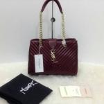 กระเป๋า YSL มาใหม่งานสวย แบบอั้ม-พัชราภาใช้ ขนาด 10 นิ้ว ราคา 900 บาท สีน้ำตาล