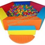 EVB-04-1 บ่อบอลหกเหลี่ยม พร้อมลูกบอล 500 ลูก