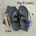 **พร้อมส่ง** FitFlop Sling M (Leather) : All Black : Size US 12 / EU 45