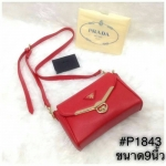 กระเป๋าสะพายข้าง Prada มาใหม่งานสวยน่ารัก ขนาด 9 นิ้ว ราคา 750 บาท สีแดง
