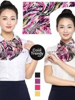 ผ้าพันคอสำเร็จรูป ผ้ายูนิฟอร์ม uniform ผ้าไหมซาติน : L80