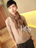 ผ้าพันคอผู้ชาย Men scarf solid scarf : สี Coffee ผ้า cotton