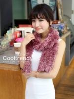 ผ้าพันคอแฟชั่น Magic Scarf - ผ้าพันคอแปลงร่าง เนื้อผ้าไลคราสี Pastel Pink