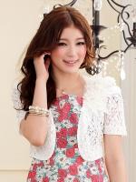 เสื้อคลุมลูกไม้ สีเบจ/สีดำ/สีขาว (XL,2XL,3XL)