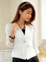 สูทcardigan สีขาว/สีดำ (XL,2XL,3XL)
