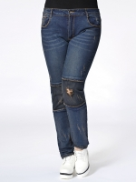 กางเกงยีนส์ยืดไซส์ใหญ่ ขายาว (L,XL,2XL,3XL,4XL)
