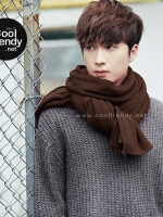 ผ้าพันคอผู้ชาย Man scarf ผ้า cashmere 180x30 cm - สี Brown