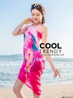 ผ้าคลุมชุดว่ายน้ำ ผ้าคลุมชายหาด ผ้าชายทะเล SH757 : ผ้าชีฟอง size 150x100 cm