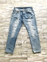 ส่ง:กางเกงยีนส์แท้สีฟอกแต่งขาดเก๋ๆ/เอว28-29