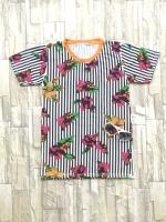 ส่ง:เสื้อยืดคอกลมพิมพ์ลายดอกสดใส/อก34-35