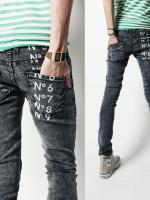 กางเกงผู้ชาย | กางเกงยีนส์ชาย กางเกงยีนส์ยืดขายาว แฟชั่นเกาหลี