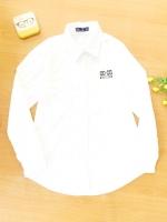 ขายส่ง:พร้อมส่งเสื้อปกเชิ้ตขาวแต่งปักCC/อก36