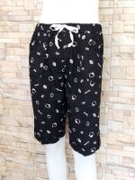ขายส่ง:พร้อมส่งกางเกงน่ารักแต่งพิมพ์ลายคิตตี้/เอวยืดได้26-38/ดำ