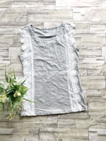 ส่ง:เสื้อแต่งลูกไม้ถัก2ข้างแบบน่ารัก/อก32-33