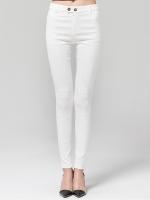 กางเกงลำลองขายาวไซส์ใหญ่ สีขาว ผ้าทึบลายลูกไม้ (L,XL,2XL,3XL,4XL)