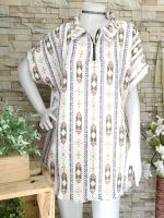 ส่ง:เดรสปกคอซิปชายโค้งสาวอวบใส่สบายทรงผ้าพริ้วๆ/อก48