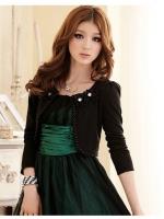 เสื้อคลุมแขนยาว สีดำ/สีขาว (XL,2XL,3XL)