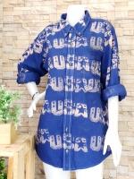 ขายส่ง:เสื้อยีนส์ฟอกแบบลายเก๋ๆปกเชิ้ตแขนยาว/อก41