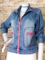 ขายส่ง:เสื้อคลุมแจ็คเก็ตยีนส์แท้แบบเก๋ๆสวยๆ/อก38