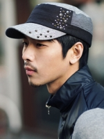 หมวกcapผ้าตอกหมุดแฟชั่นผู้ชายจากเกาหลีมี4สี
