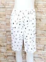 ขายส่ง:พร้อมส่งกางเกงน่ารักแต่งพิมพ์ลายคิตตี้/เอวยืดได้26-38/ขาว